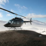 Heli-tour to the volcano