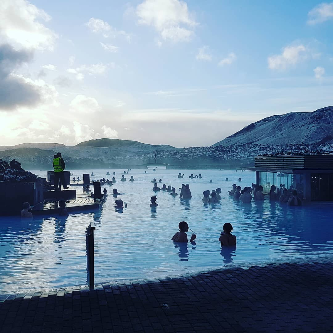 Early Morning at the Blue Lagoon with First Class Travel